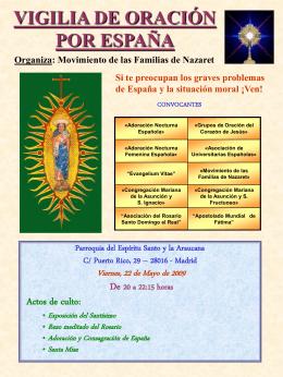 vigilia de oración por españa - Asociación y Cofradía del Rosario