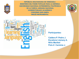 Present Perfect - Participantes Maestria Educacion Universitaria