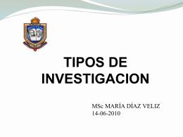 MODALIDADES DE LA INVESTIGACION - Asesores