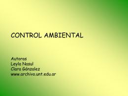 CONTROL AMBIENTAL - Archivo Historico de la UNT