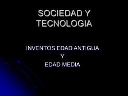 SOCIEDAD Y TECNOLOGIA