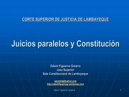 CONFERENCIA Juicios paralelos y Constitución
