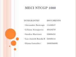 ELEMENTOS COMUNES MECI – NTCGP 1000