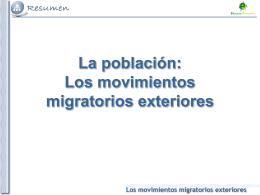 Tema 3: los movimientos migratorios exteriores en España