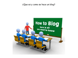 How make a Blog