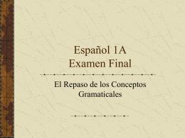 Español 1B Mid-Term
