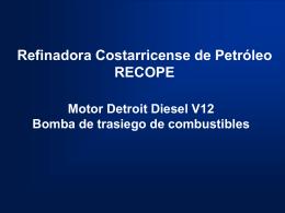LIMON Motor Detroit Diesel V12 Bomba de trasiego de
