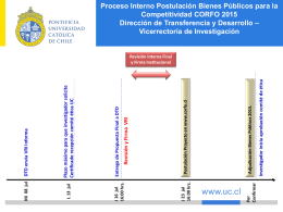 Calendario VRI - Vicerrectoría de Investigación