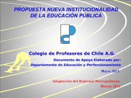 2014 institucionalidad colprof - Colegio de Profesores de Chile