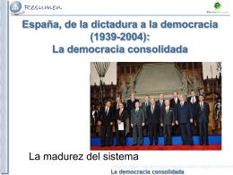 La democracia consolidada