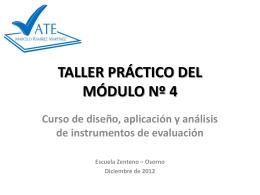 TALLER PRÁCTICO DEL MÓDULO Nº 4