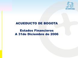 +4% - Acueducto de Bogotá