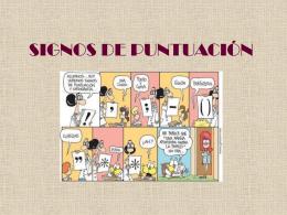 SIGNOS DE PUNTUACIÓN