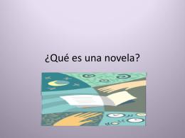 ¿Qué es una novela?