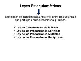 Estequiometría 2