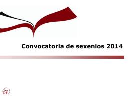 Criterios Sexenios 2014