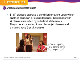 si clauses with simple tenses ppt