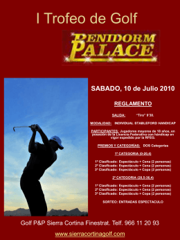 cartel sierra cortina - Benidorm Club de Golf