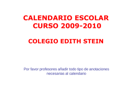 calendario escolar curso 2009