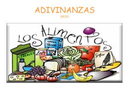 ADIVINANZAS DE ALIMENTOS