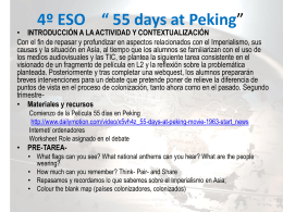 "4º ESO "" 55 days at Peking"""