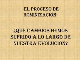 presentación hominización grupo 5
