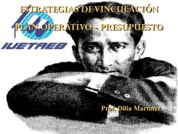 Estrategias de vinculación de plan operativo presupuesto