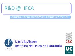 Actividades de I+D en el IFCA