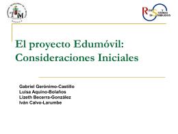 El Proyecto Edumóvil - Universidad Tecnológica de la Mixteca