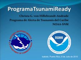 Programa Tsunami Ready - Red Sísmica de Puerto Rico
