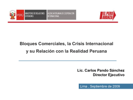 Bloques Comerciales, la Crisis Internacional y su Relación