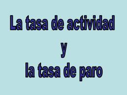 tasa de actividad - 1C-Bach