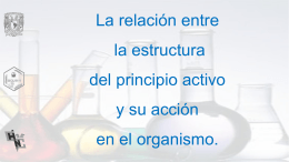 relación entre la estructura del principio activo