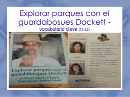 Explorar parques con el guardabosues Dockett