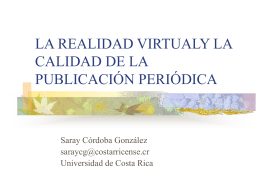 la realidad virtualy la calidad de la publicación periódica
