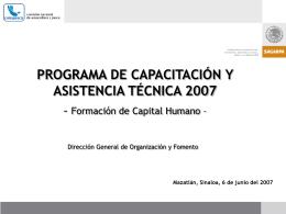 Capacitación y Asistencia Técnica