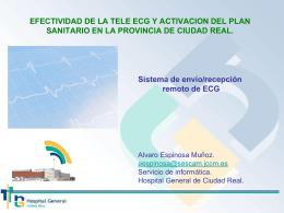 Sistema de envío/recepción remoto de ECG Obtener el ECG en