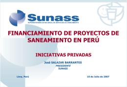 Promoción de la Inversión en el Sector Saneamiento vía