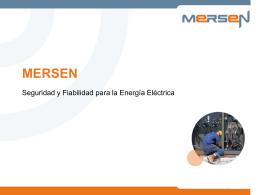 Producto Seguridad y Fiabilidad para la Energía Eléctrica