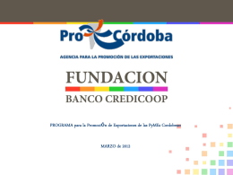 Slide 1 - Agencia ProCórdoba