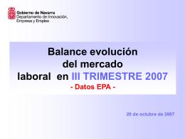 Balance evolución del mercado laboral en 2006 - Datos EPA -