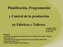 04-cl-Planificacion y Programacion de fabricas