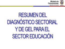 Diagnóstico Sector Educación - Inicio Estrategia de Gobierno en Línea