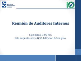 Presentación de la reunión con auditores internos 2015