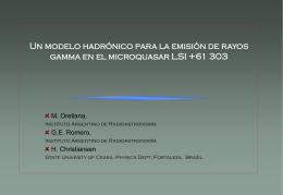 Un modelo hadrónico para la emisión de rayos gamma en el