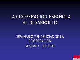 la cooperación española al desarrollo