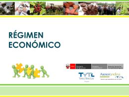 REGIMEN ECONOMICO - Asociatividad y el MODELO cooperativo