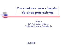 tema 3 Tomasulo-Saltos Arquitectura