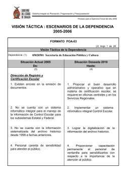 Programa Operativo Anual 2006 SEPyC