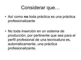 Prácticas Profesionalizantes - Dirección General de Educación